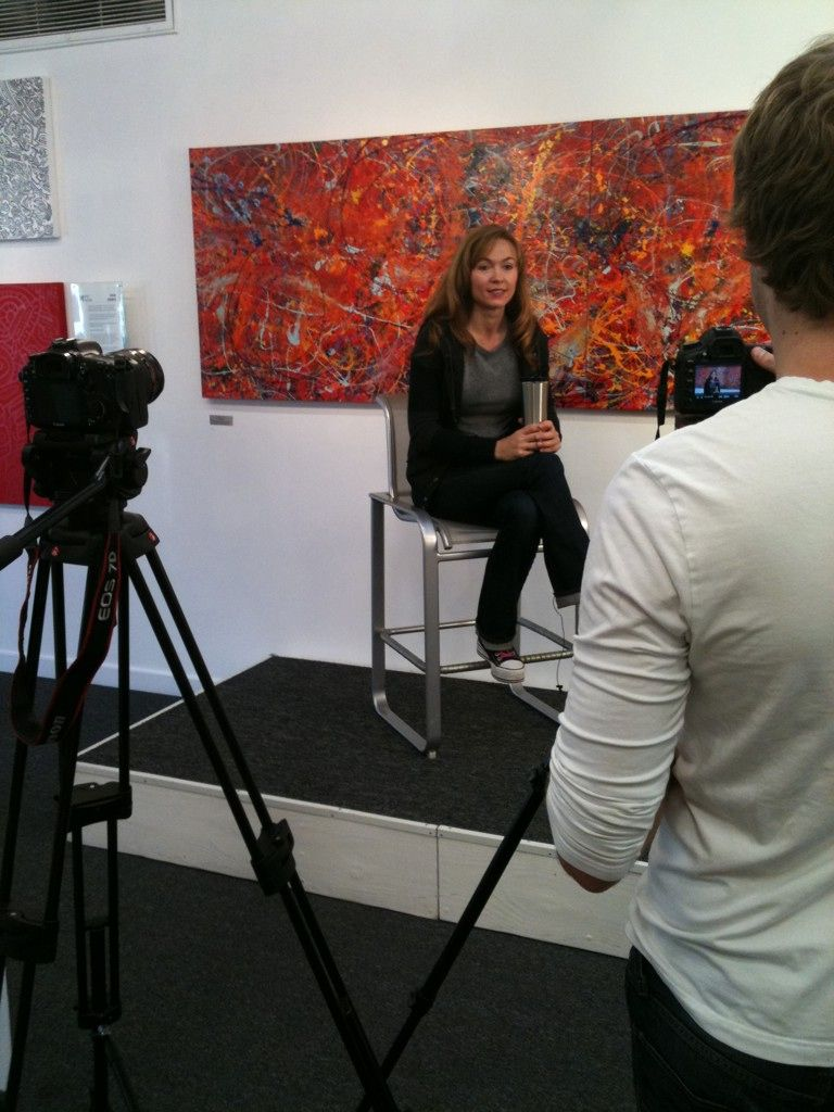 Interview with @ThatNatalieGray at The Happening Gallery #art