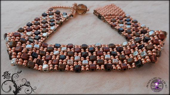 Woven Beaded Bracelet Stepping Stones in a Sea of by JewelryOfLife, $25.00