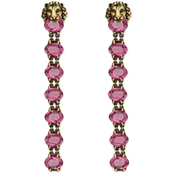 Gucci Lion head earrings with crystals Gx2aGsYC2