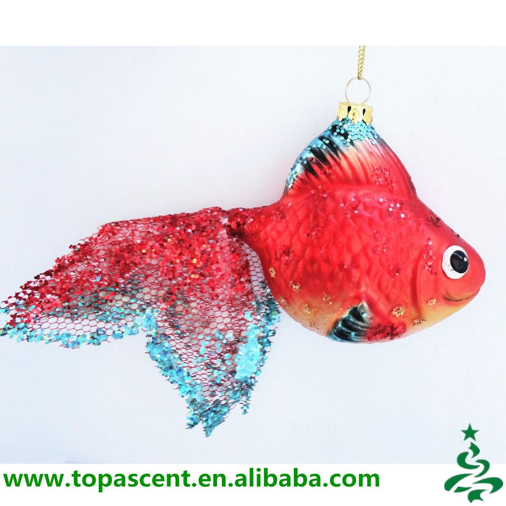 Animated Hand Painted Fish Glass Christmas Ornaments Wholesales From ...
