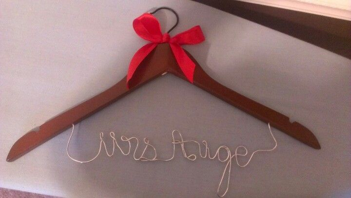 Perfect Wedding Gift For Sister: Wedding Dress Hanger. Perfect Bridal Shower Gift. For My