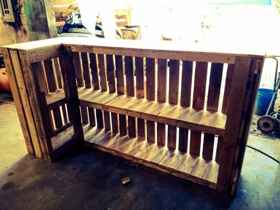 Barra para bar de pallets palets pinterest bar - Barras de madera para bar ...