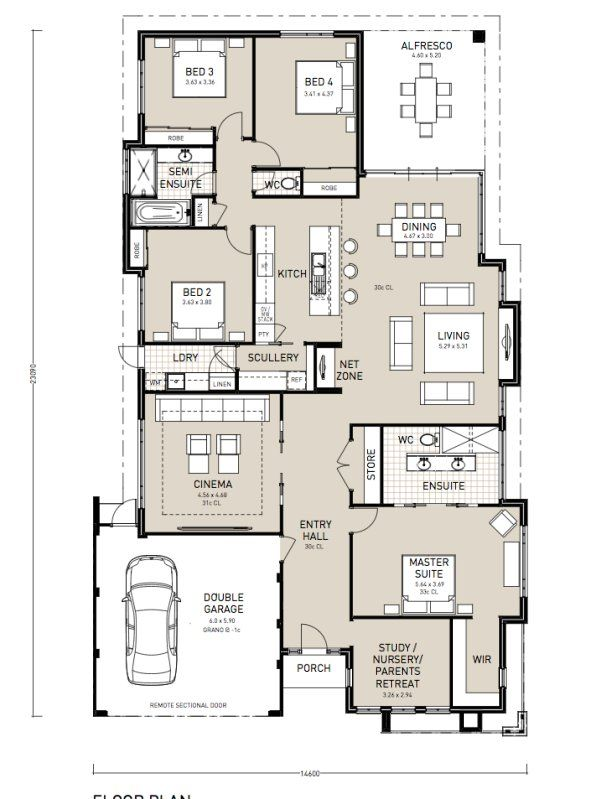 Modern House With Scullery Pole Barn House Plans Barn House Plans Log Home Plans