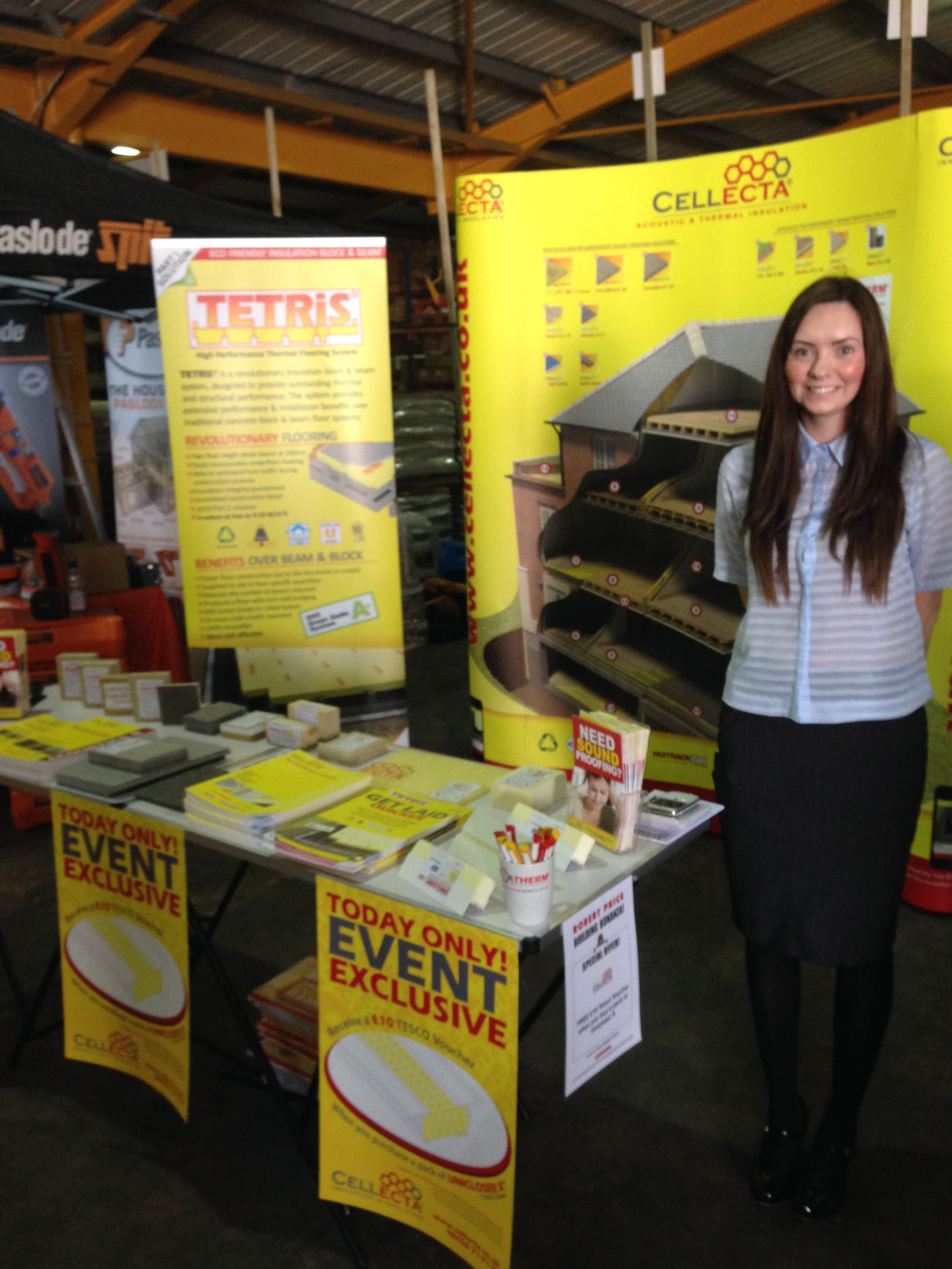 Cellecta's Regional Sales & Technical Manager Becky Waters at the Robert Price Bonanza 2014.