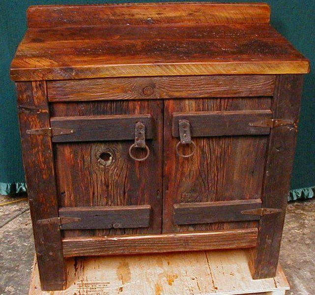 Rustic Bathroom Vanity Cabinets | CUSTOM MADE RUSTIC BARNWOOD FURNITURE