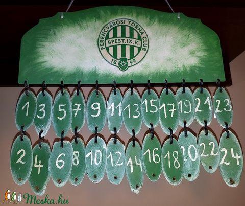 ftc naptár Fa függeszthető adventi kalendárium, naptár FTC szúrkolóknak  ftc naptár