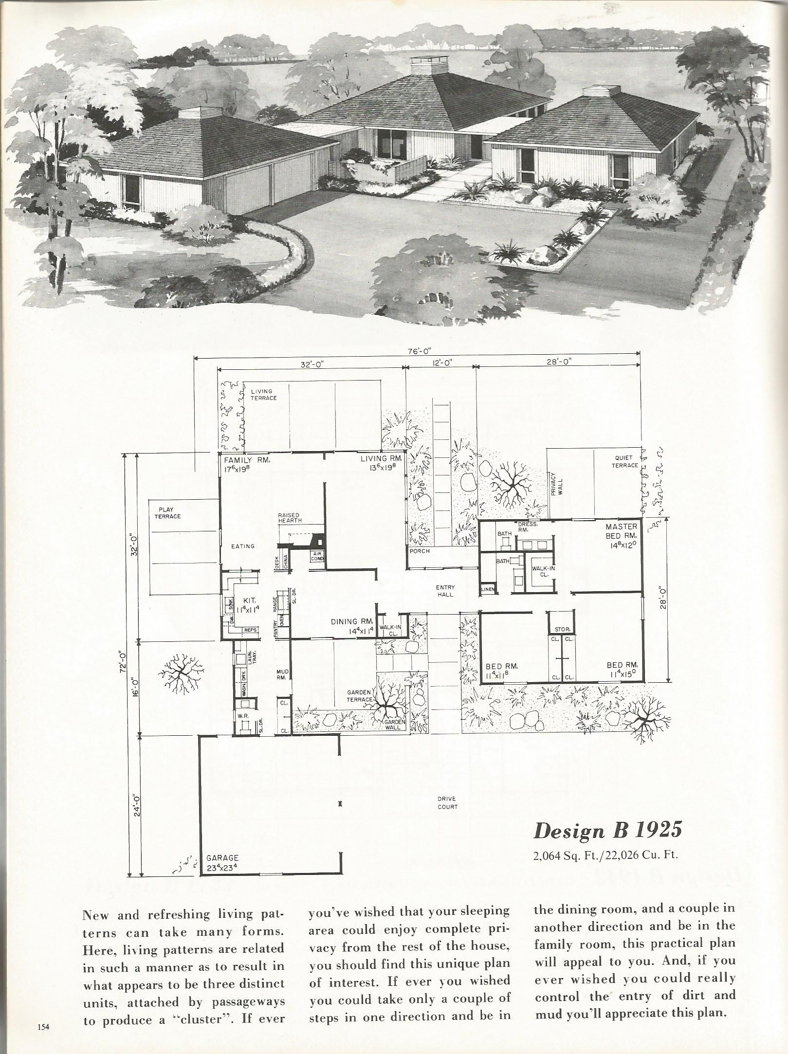 vintage house plans mid century homes 1960s homes mid century modern vintage house plans. Black Bedroom Furniture Sets. Home Design Ideas