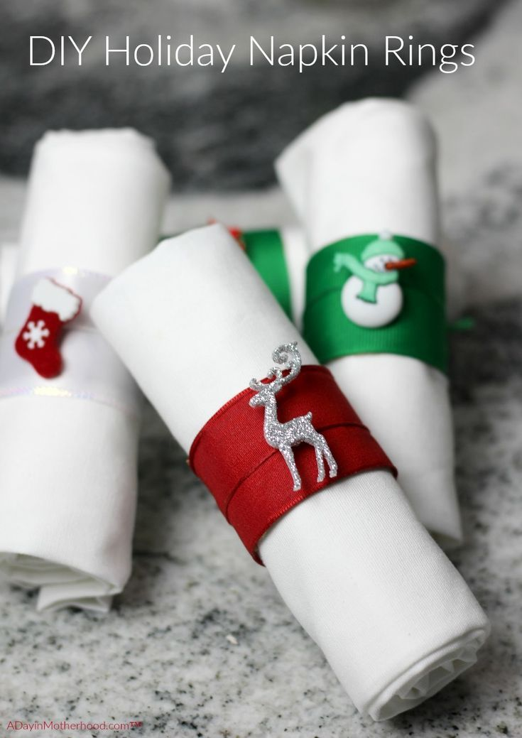 DIY Holiday Napkin Rings Tutorial #napkinrings