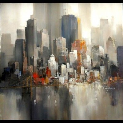 tableau de new york autour d 39 un cadre encadrement peinture restauration new york. Black Bedroom Furniture Sets. Home Design Ideas