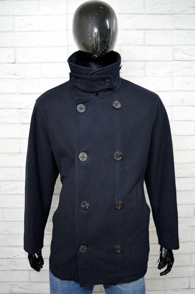 4d035b4c87 WOOLRICH Cappotto Lana Giacca Uomo Taglia XXL Giubbotto Jacket ...