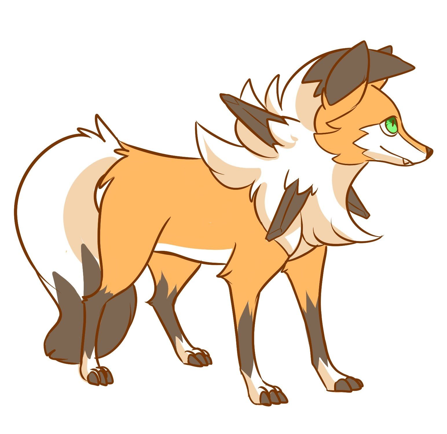 Lycanroc Dusk Form I Think It Looks Like A Maned Wolf Pokemon