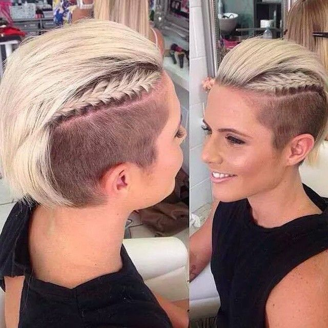 I don't like the long hair, but I would love to do this with my faux hawk with the braids on the sides