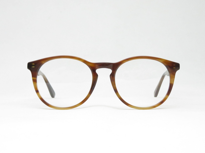 Brown Plastic Glasses For Men And Women Panto Eyewear Frame Gift
