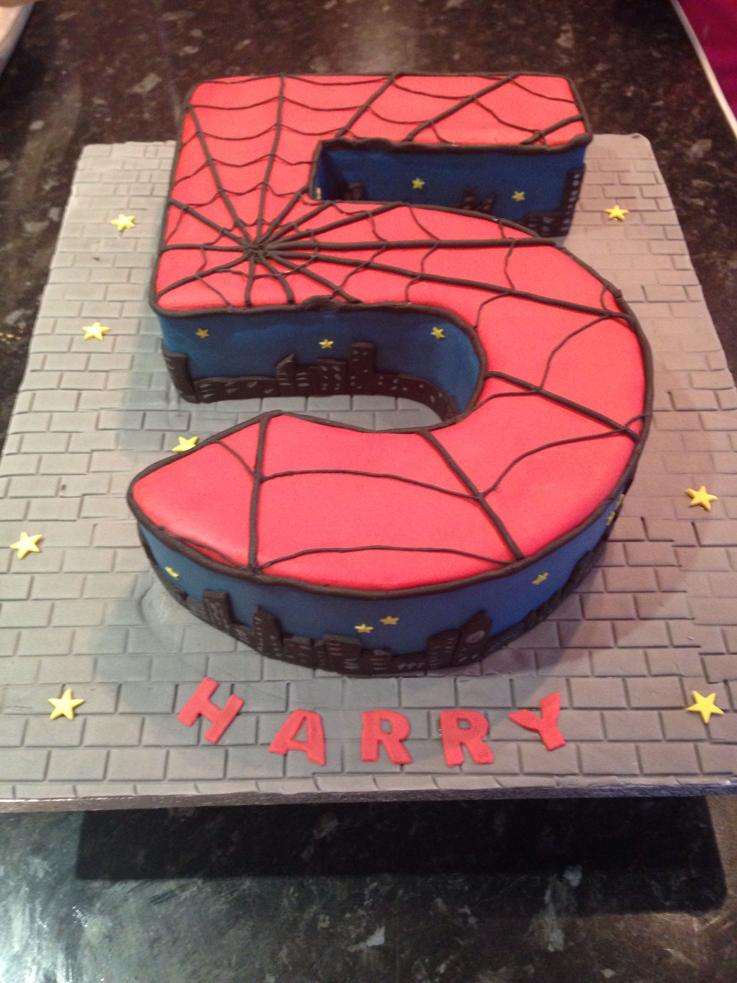 Spider Man Cake For A 5 Year Old Birthday Birthday Cakes