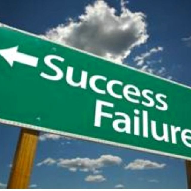 Two roads. Success and failure