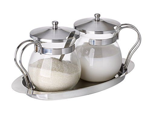 5th Ave Gl And Stainless Steel Sugar Creamer Server Set Http
