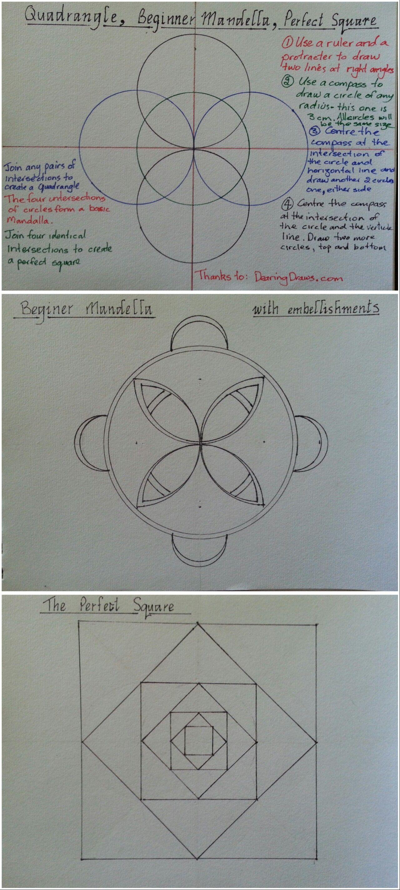 How to draw a quadrangle beginner mandala and the perfect square how to draw a quadrangle beginner mandala and the perfect square ccuart Image collections