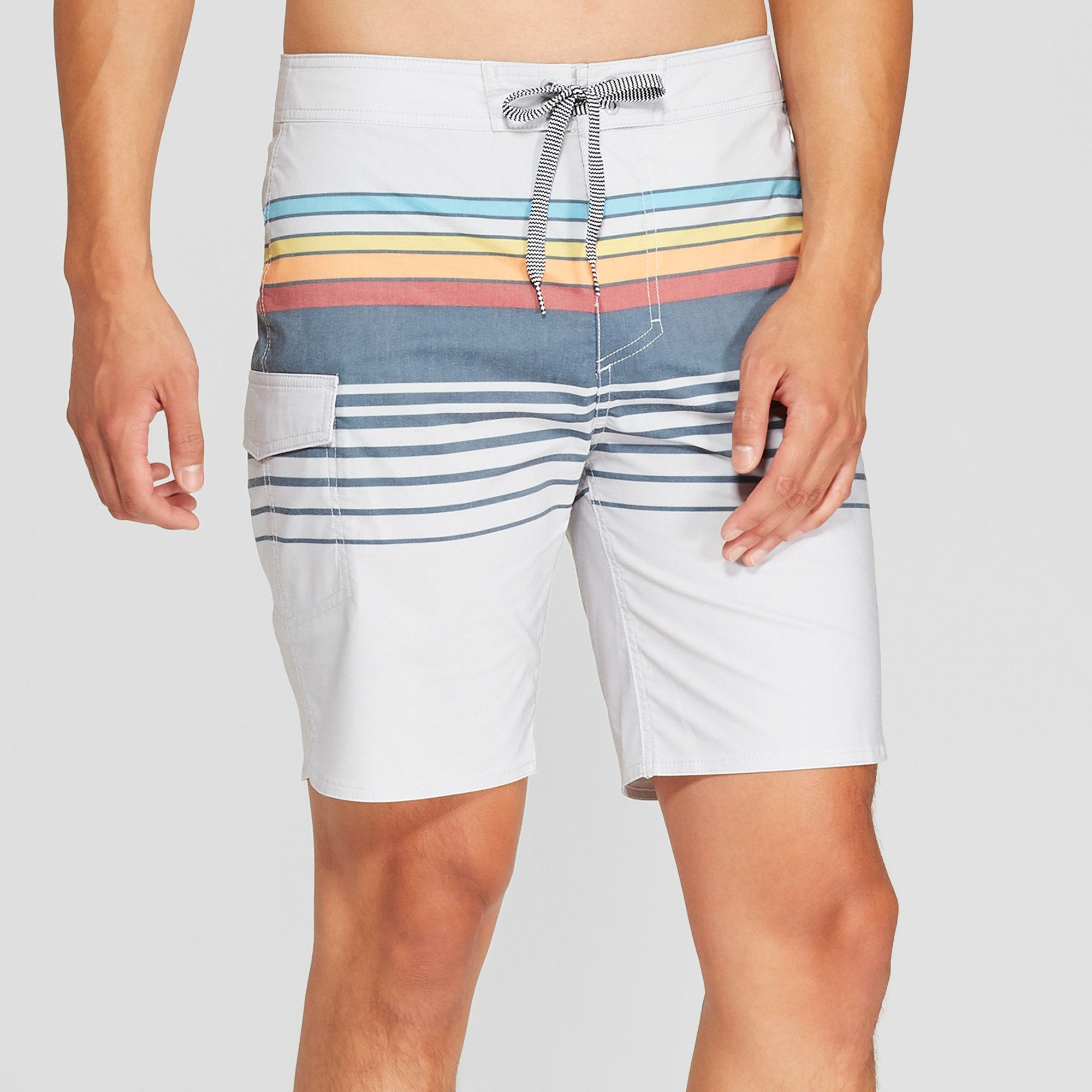 ff165e7bbe Men's Striped 8.5 Freddy Board Shorts - Goodfellow & Co Gray 42 in ...