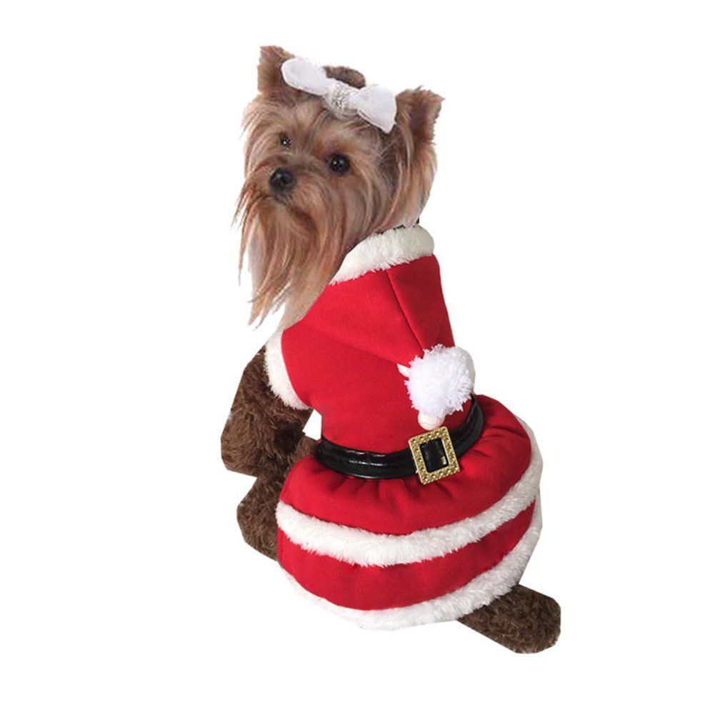 Nacoco Pet Christmas Coat Dog Cat Santa Claus Suit Xmas Skirts Dog