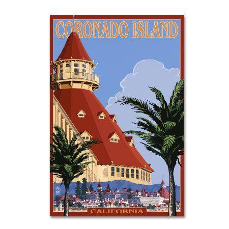 San Diego California Del Coronado United States Travel Advertisement Poster