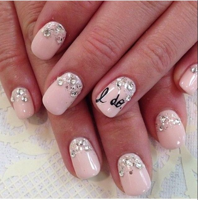 Bridal Nail Art Inspiration | Confetti, Bridal nail art and Bridal nails