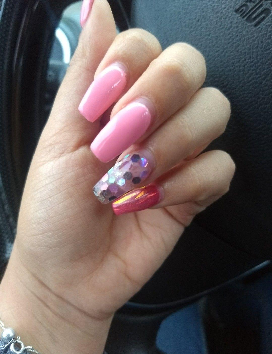 #rosa #pink #pinknails #uñas #nailsfactory #organic #Gel #acrilico