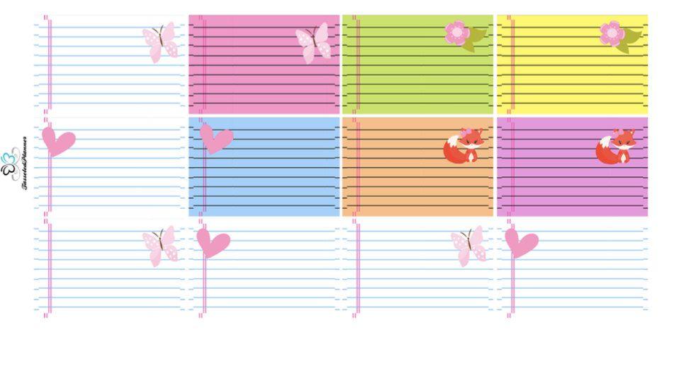 Foxy Butterflies Notebook Paper Planner Sticker/ Erin Condren Half Box Sticker…