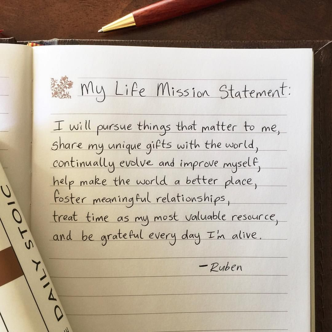 personal values statements