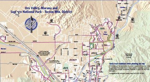 Map University Of Arizona.Tucson Bicycle Maps Back Page Tucson University Of Arizona