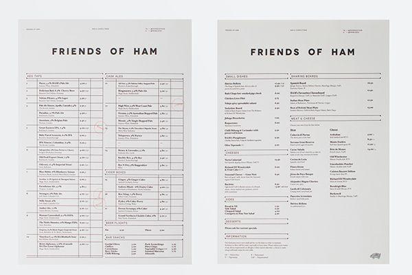Friends of Ham restaurant branding