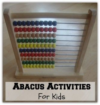 Activities for the AL Abacus Manual, Activities for ...