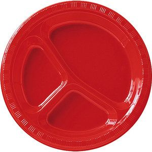 adults red divided plates 20 pk walmart beach ball bash pinterest walmart. Black Bedroom Furniture Sets. Home Design Ideas