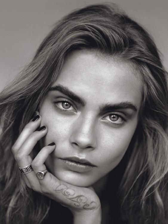 Cara Delevingne The Face British Vogue January 2014  Alasdair McLellan (Photographer)  Kate Phelan (Editor)  Anthony Turner (Hair Stylist)  Lisa Butler (Makeup Artist) source: vogue.co.uk