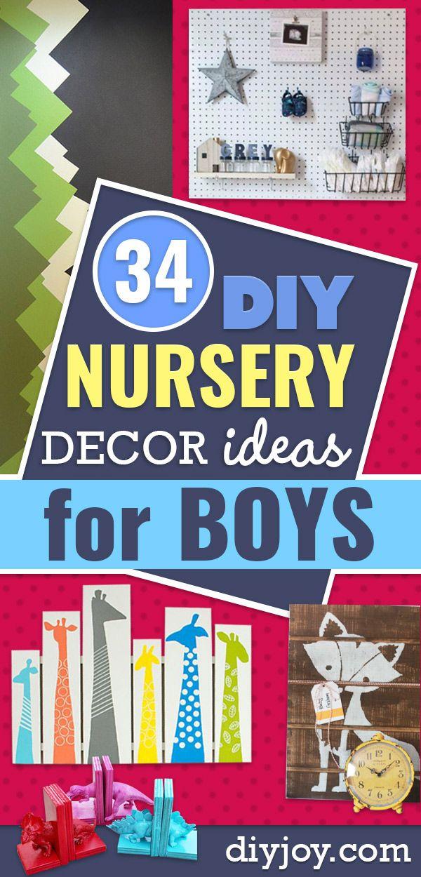 34 Creative DIY Nursery Decor Ideas for Boys | Diy nursery ...