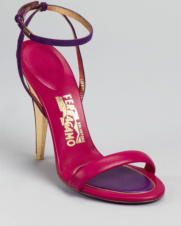 strappy high-heel sandals - Pink & Purple Salvatore Ferragamo tEqg4MvOX