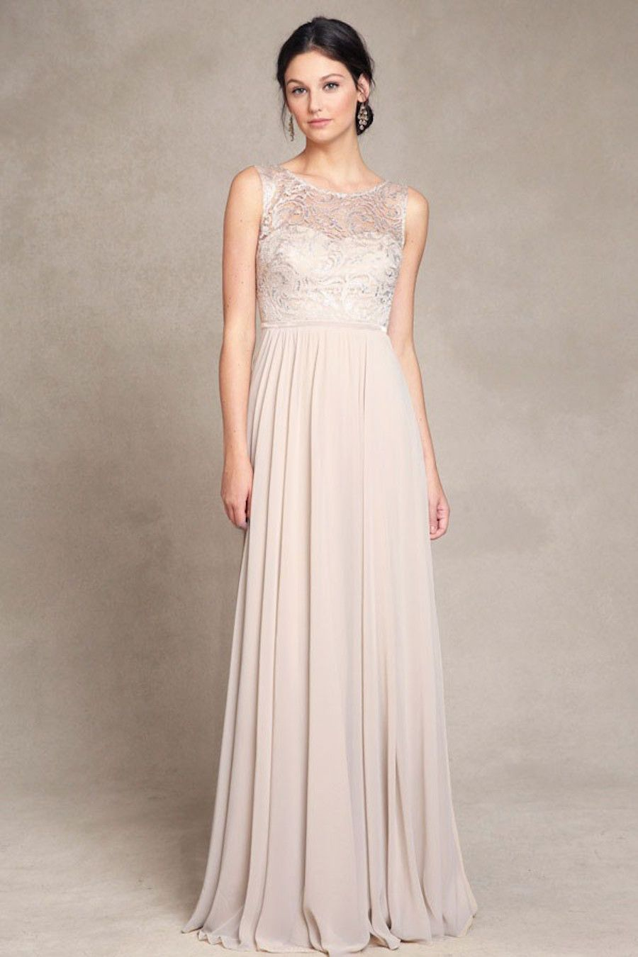 Get the Look: Taylor Swift\'s Blush + Gold Reem Acra Maid of Honor Dress