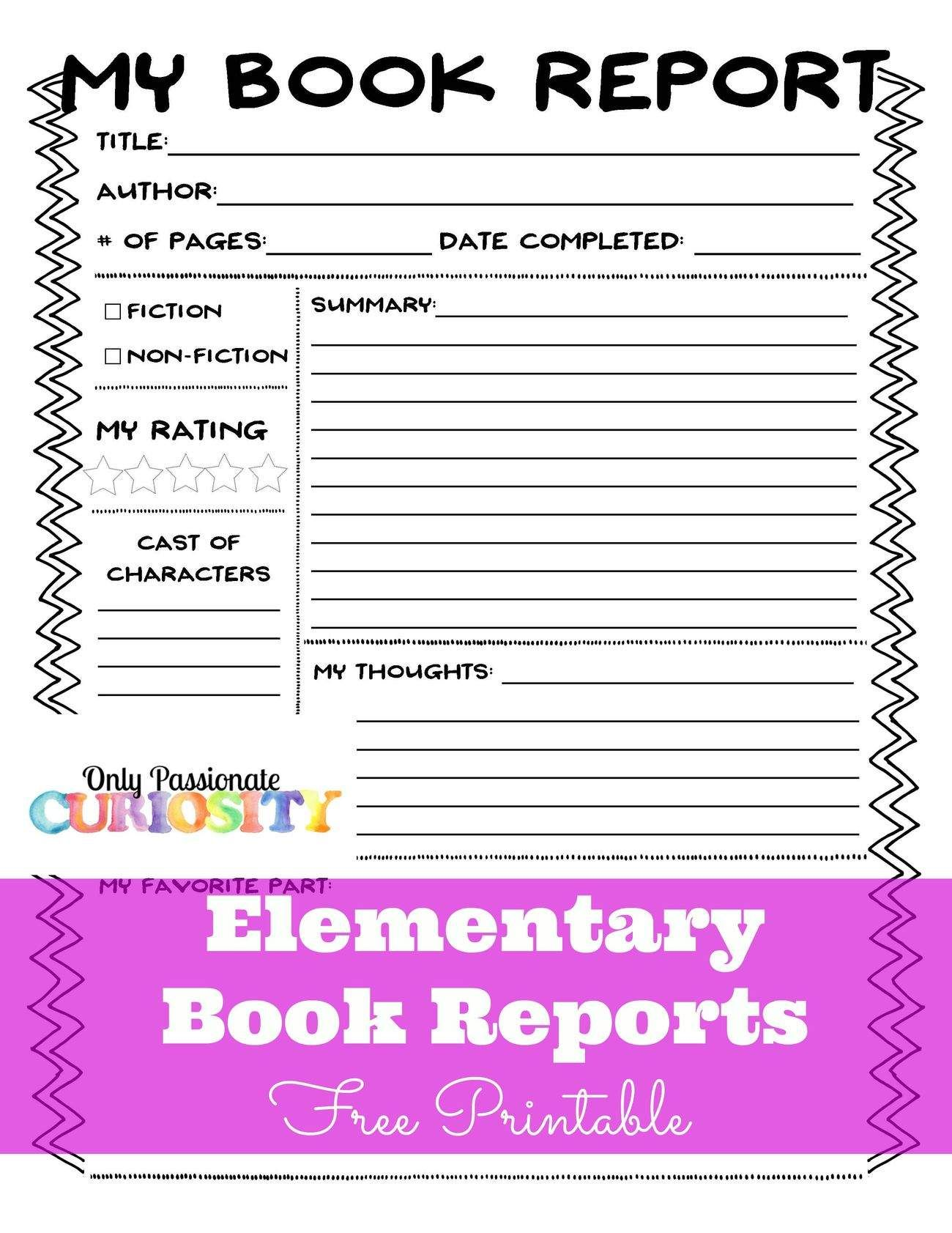 Easy Books To Do Reports On  Book Report