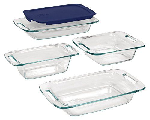 Pyrex Easy Grab 8 Piece Glass Bakeware And Food Storage Set