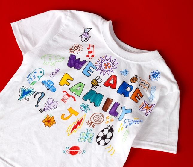 Design T Shirts With Your Family And Friends Using Crayola Fabric
