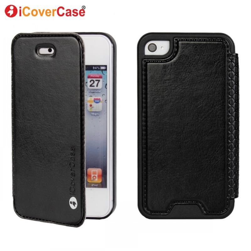 Cover for iPhone 4 Case Fundas Movil Coque for iPhone 4s Capa Shell Carcasas Hoesjes Funda Carcasa Covers Flip Crazy Horse Etui