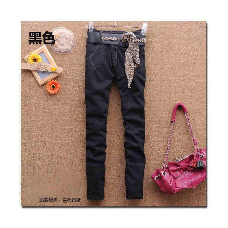 Schwarz schmale Jeans mit Gürtel, 17,90 €, Phobo Onlineshop