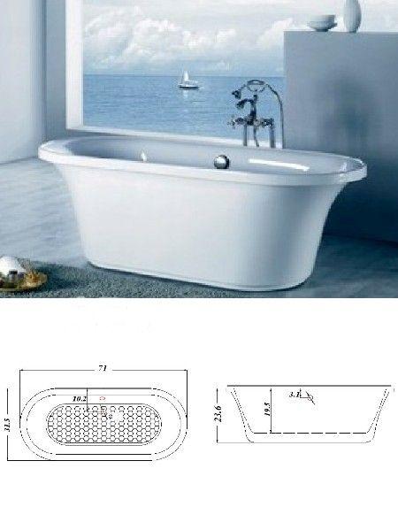 Torn On Tubs Petra Free Standing Bath Tub Price Includes Chrome - Bathroom tub price