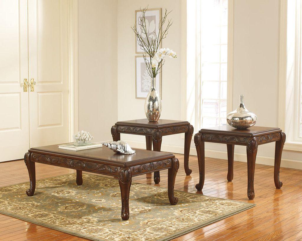 Ashley Furniture T593 13 San Martin Coffee Table Set Living Room Table Sets Coffee Table 4 Piece Living Room Table Set