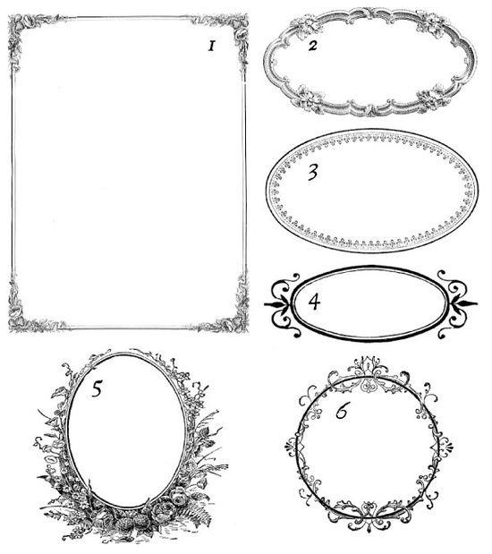 200 Free Vintage Ornaments Frames And Borders Fab N Free Clip Art Vintage Vintage Ornaments Printable Frames