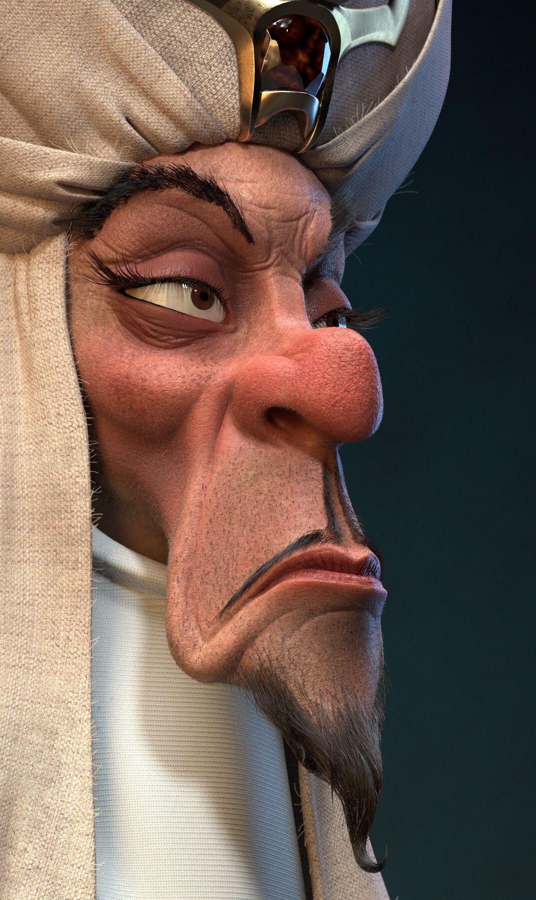 Artstation Jafar Gaetan Simonot Character Modeling Jafar