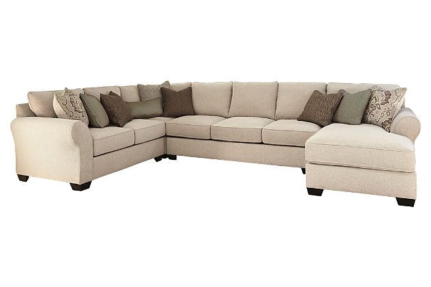 Linen Wilcot 4 Piece Sofa Sectional View 2