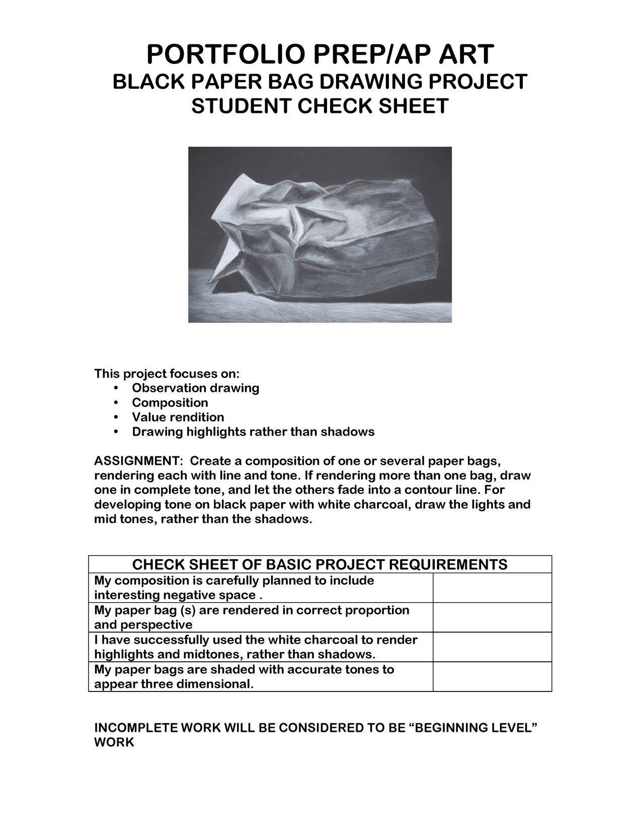 Art Talent Middle School Or High School Journal