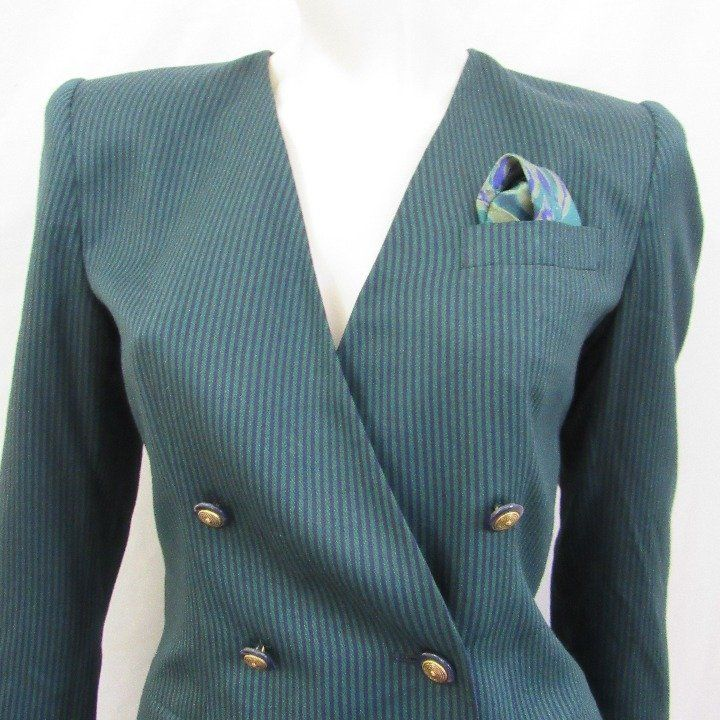 Vintage Suit Dbl Breasted Blazer Skirt Mercari The