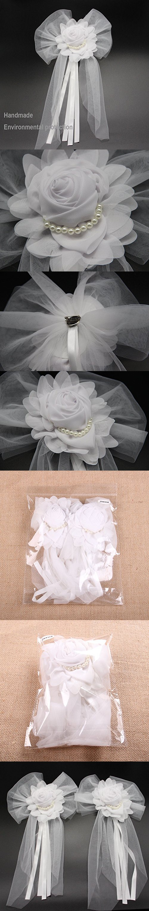 Wedding decorations car  Junxia Pearl Bud Silk Ribbon Flower for Wedding Party Decoration