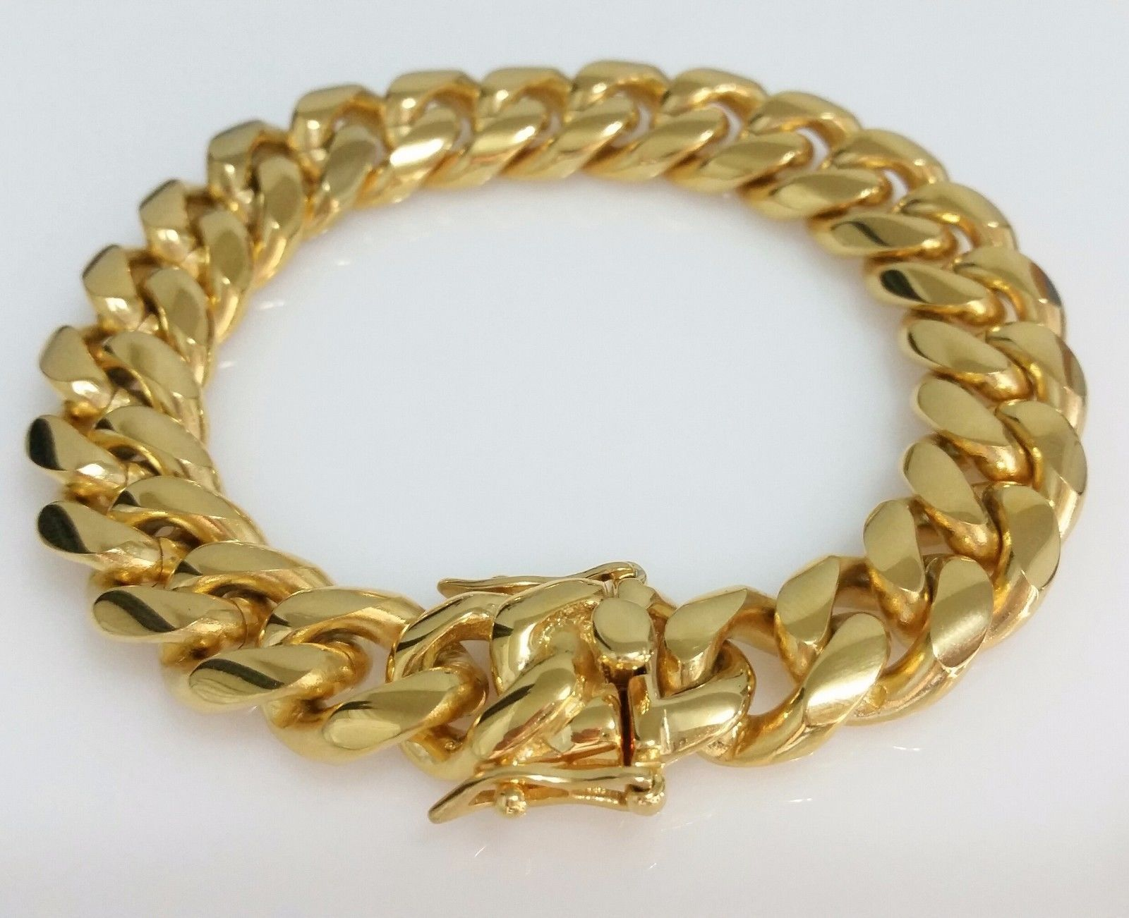 Men jewelry men k yellow gold plated stainless steel mm